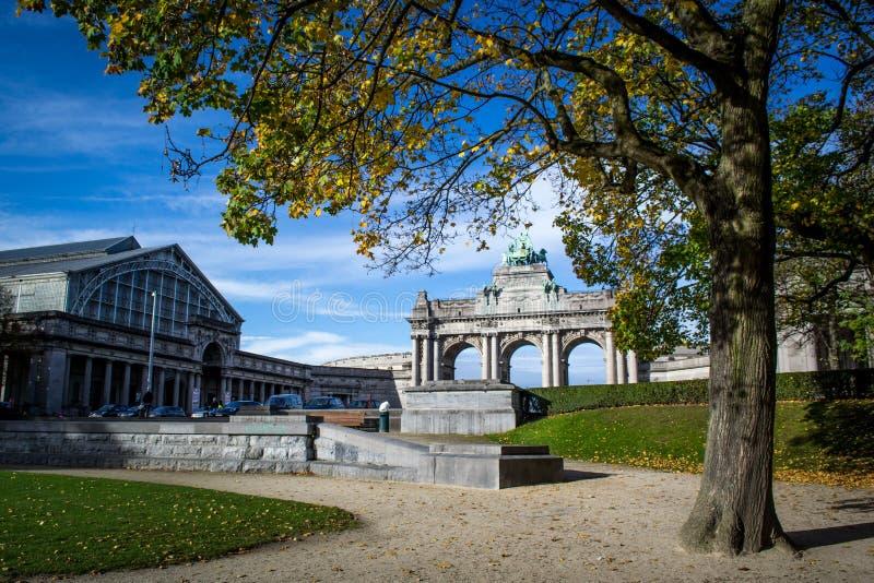 五十周年纪念公园公园在布鲁塞尔 免版税库存图片