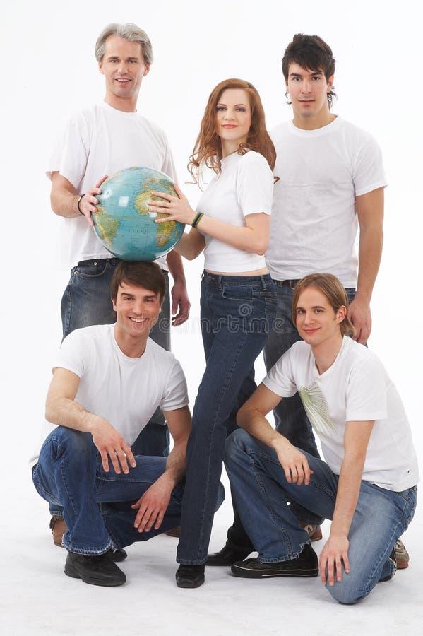 五地球人 库存图片
