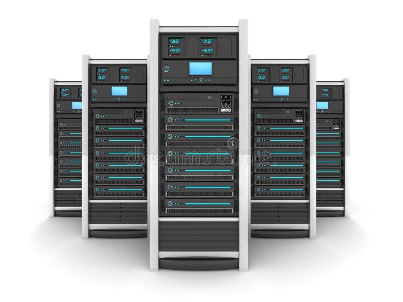 五大服务器 库存例证