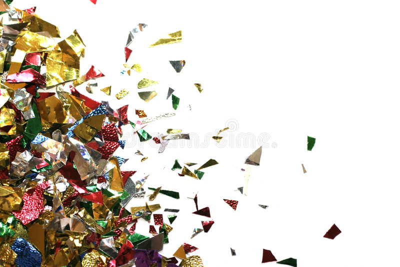 五彩纸屑三角 库存照片