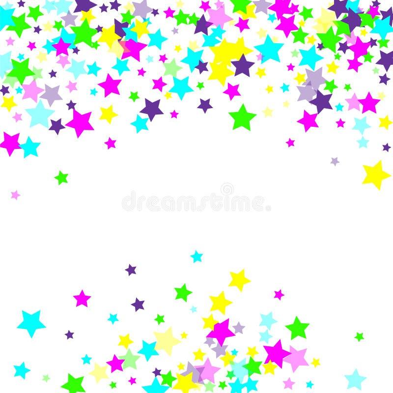 五彩纸屑多彩多姿的流星  库存例证