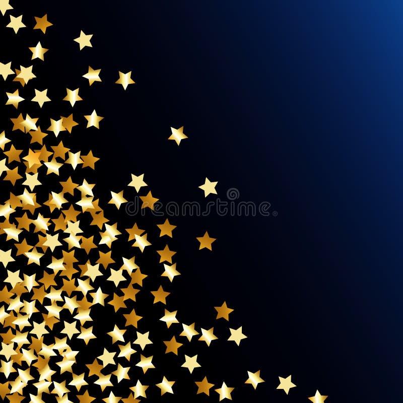 五彩纸屑星形 向量例证
