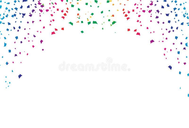 五彩纸屑,纸爆炸秋天装饰五颜六色的光谱彩虹,节日庆祝党事件摘要背景传染媒介 库存例证