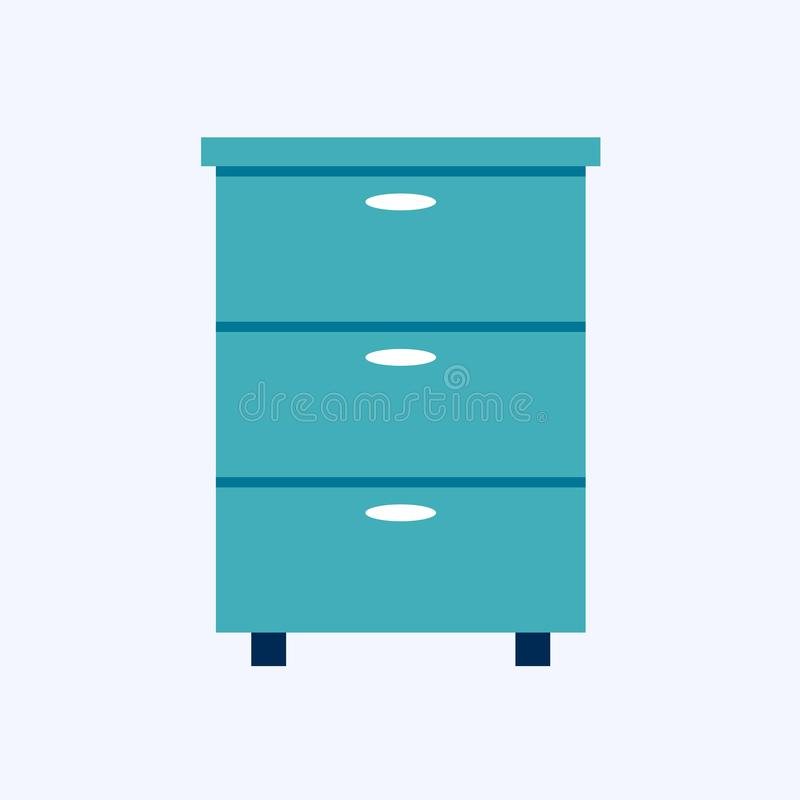 五斗橱,床头柜 向量例证