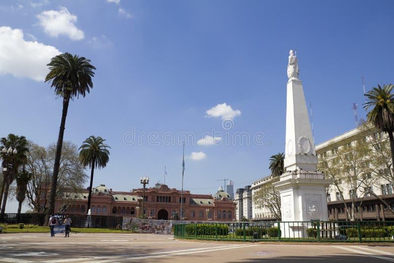 五月广场,布宜诺斯艾利斯 库存照片