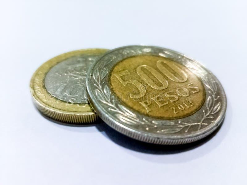 五百个比索硬币 库存照片