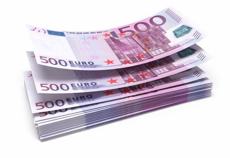 五百张欧洲钞票 库存例证