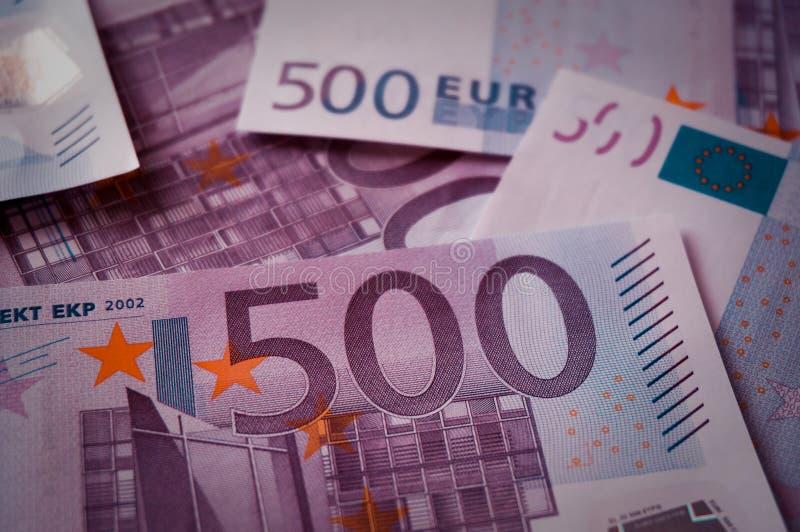 五百欧元钞票全息图 免版税库存图片