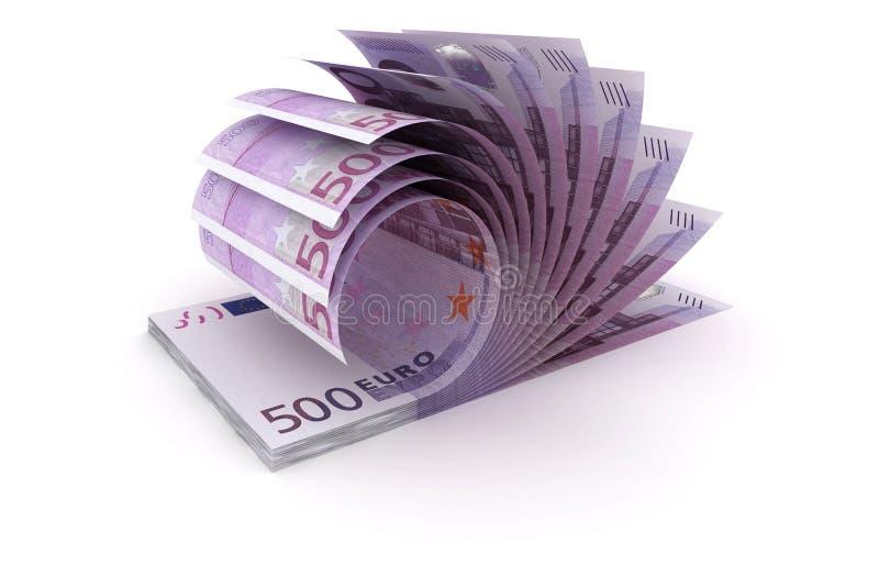五百欧元-欧盟货币 向量例证