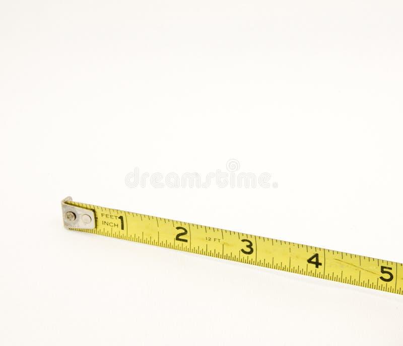 五英寸评定磁带黄色 库存照片