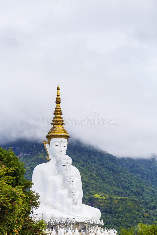 五菩萨在山, Wat phasornkaew寺庙, Kh 库存图片