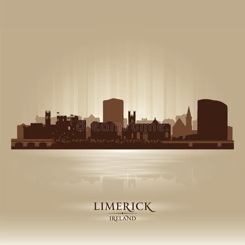 五行民谣爱尔兰地平线城市剪影 库存例证