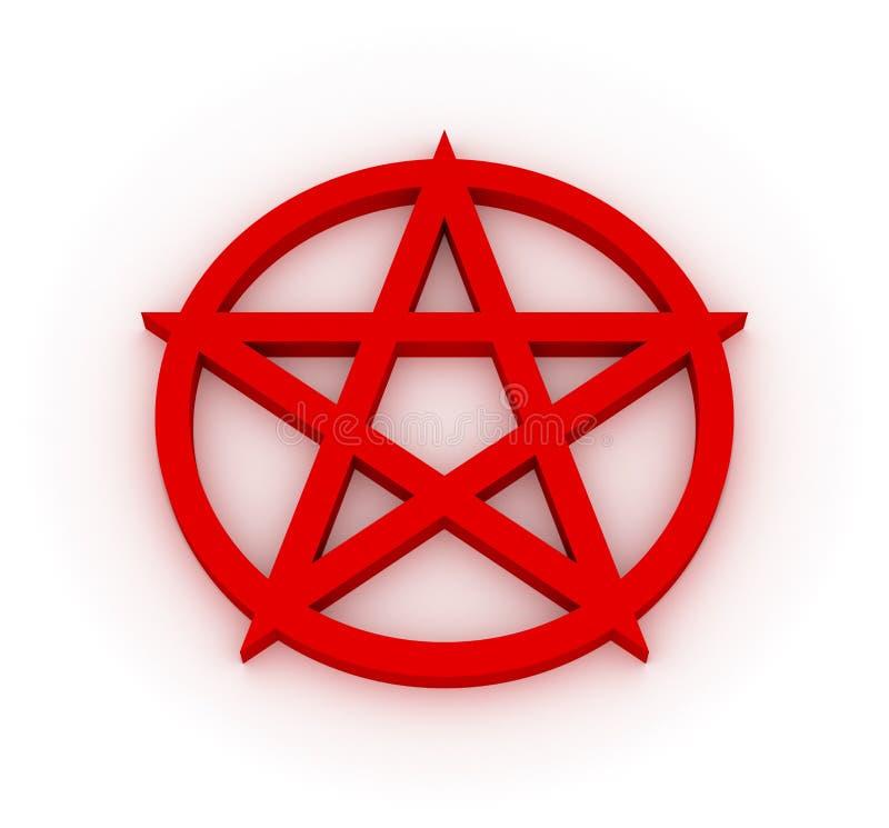 五角星形 向量例证