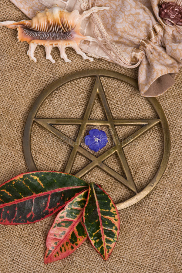 五角星形wicca 库存图片