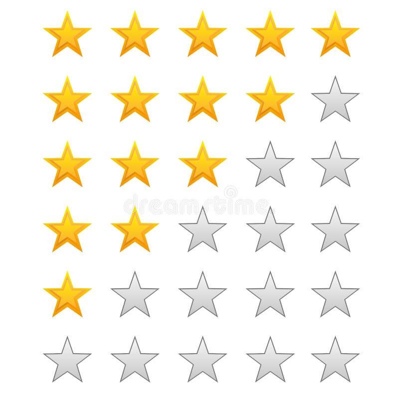 五评级星形 皇族释放例证