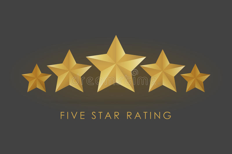 五金黄规定值星例证在灰色黑背景中 向量例证