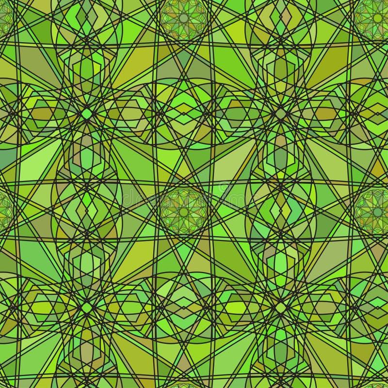 以五颜六色万花筒的彩色玻璃的形式无缝的背景纹理 也corel凹道例证向量 向量例证