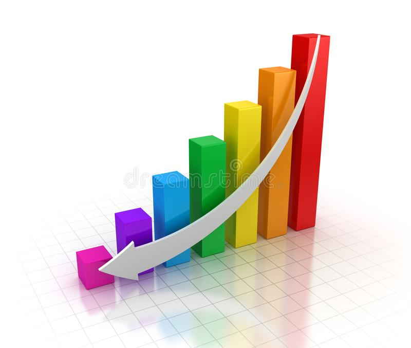 五颜六色企业的图表 库存例证