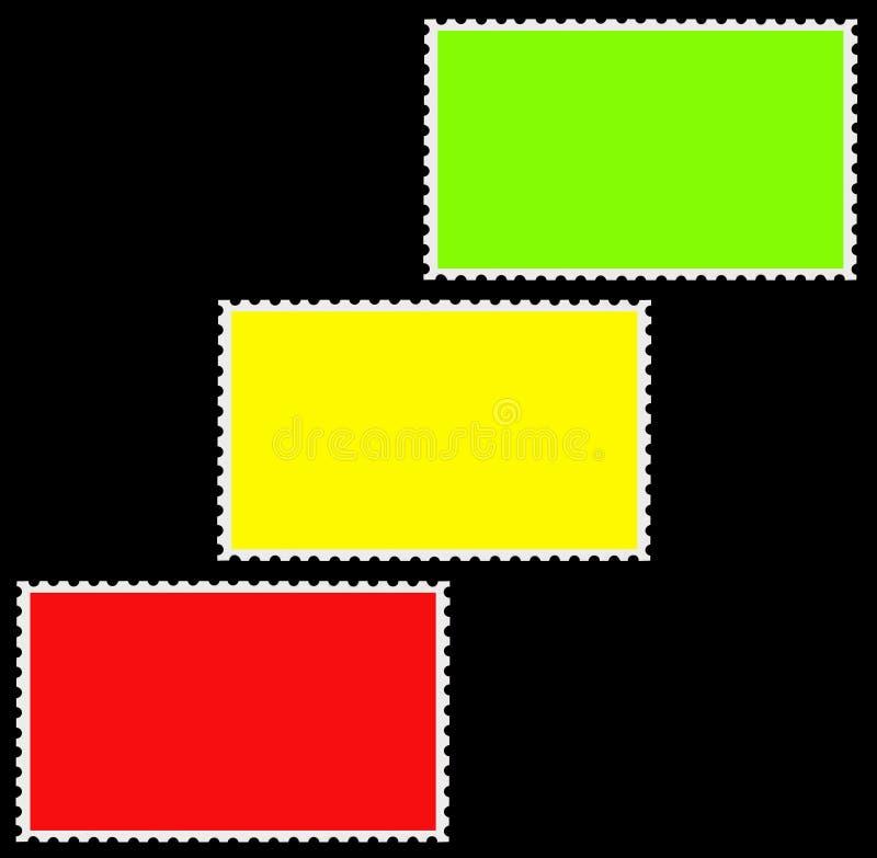 五颜六色倒空少量框架查出的行动印&# 向量例证