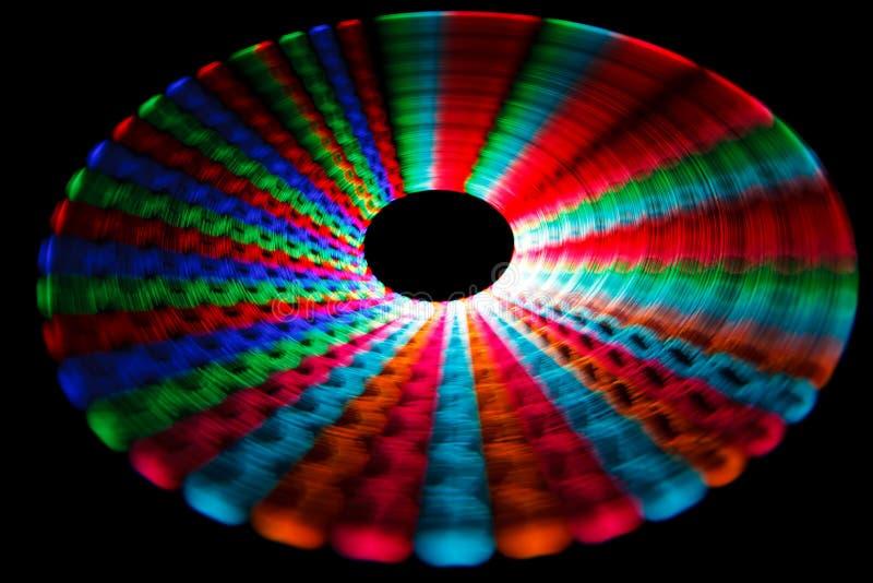 五颜六色发光导致转动的线索 免版税库存照片