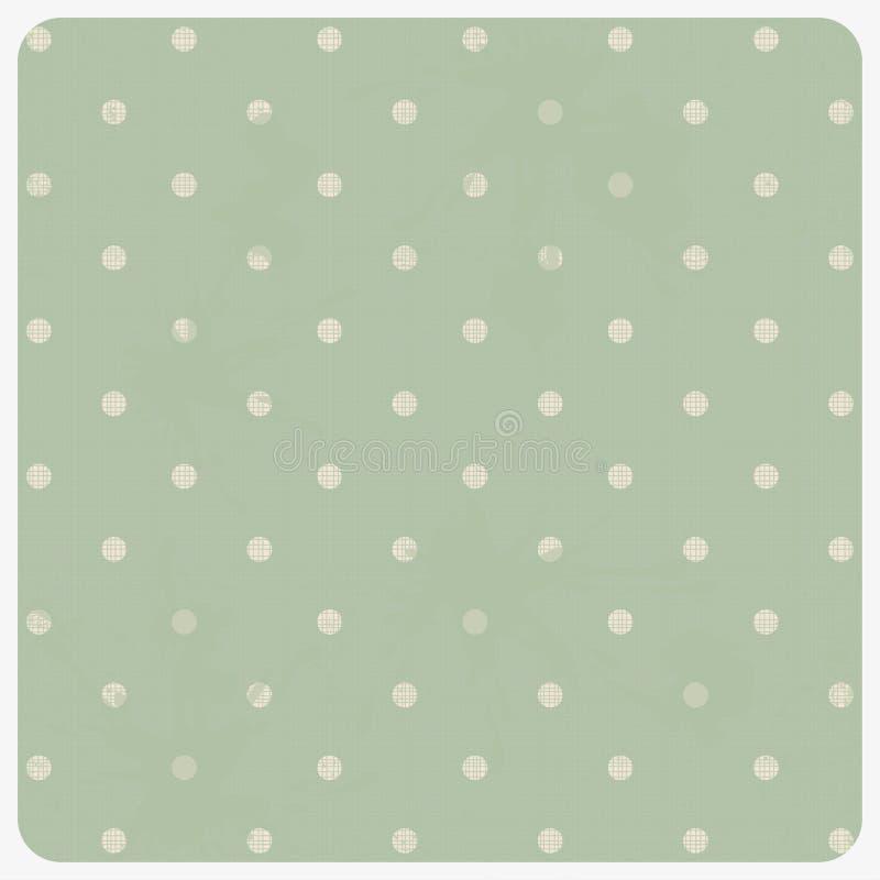 五颜六色圆点花样的布料无缝织地不很细 向量例证