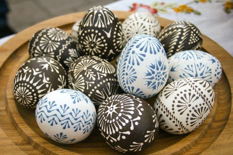 装饰的复活节彩蛋 免版税库存图片