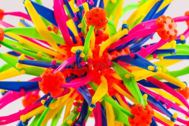 五颜六色塑料玩具 图库摄影