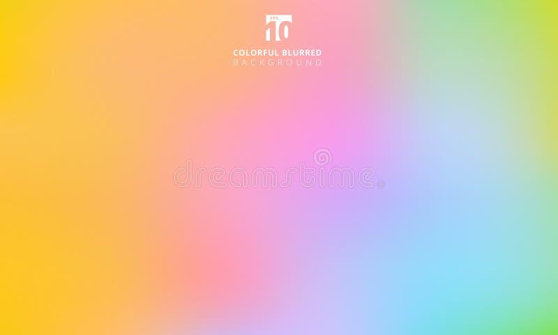 五颜六色抽象的彩虹使被弄脏的梯度滤网backgroun光滑 皇族释放例证