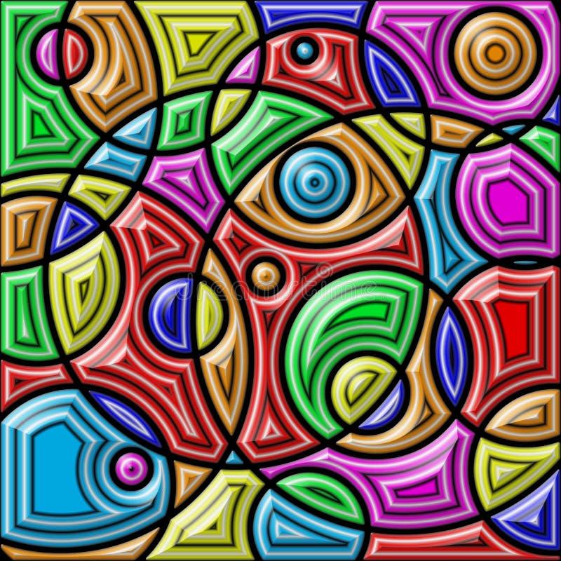 五颜六色抽象的背景 几何形状 库存例证