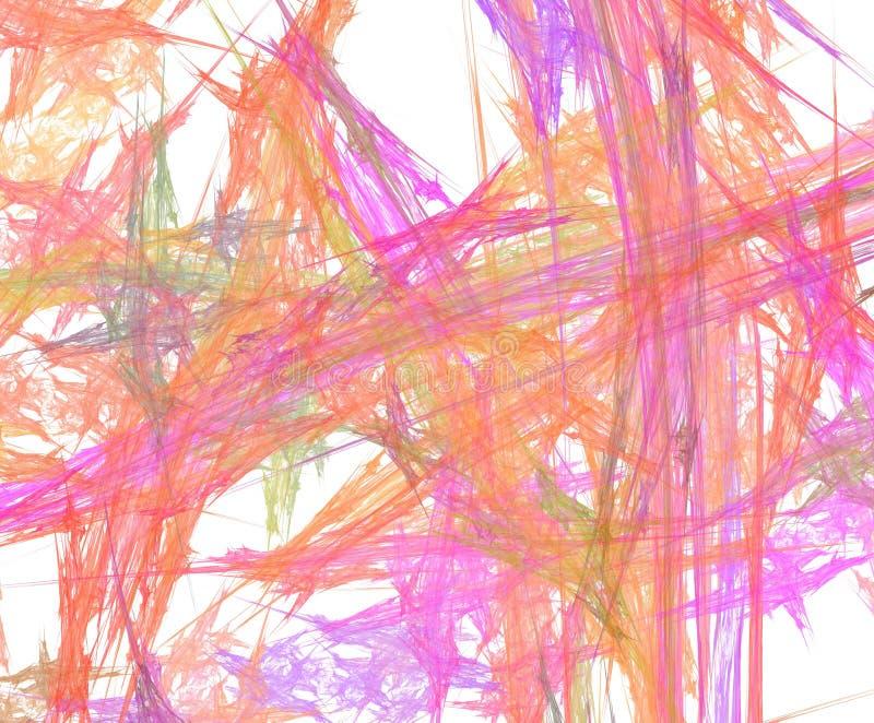 五颜六色抽象的背景 分数维,关于想象力的创造性的纹理背景设计  向量例证