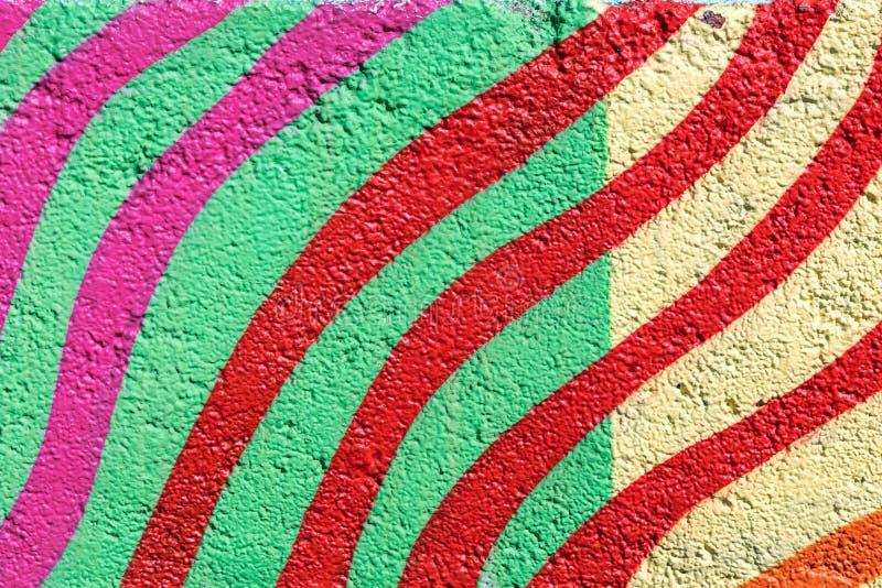 五颜六色抽象的背景 在墙壁上的都市街道画图画 库存照片