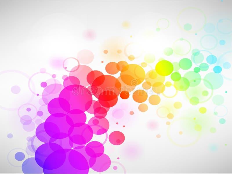 五颜六色抽象背景的圈子 向量例证