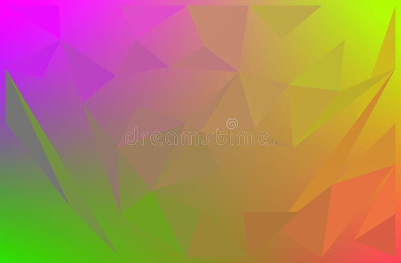 五颜六色抽象背景的多角形 库存例证