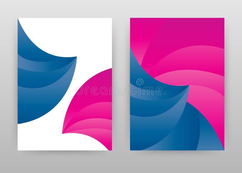 五颜六色排行了年终报告的,小册子,飞行物,海报几何抽象设计 几何洋红色蓝色背景传染媒介 皇族释放例证