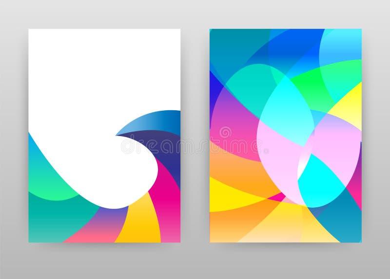五颜六色排行了年终报告的,小册子,飞行物,海报几何抽象设计 几何背景传染媒介例证为 皇族释放例证