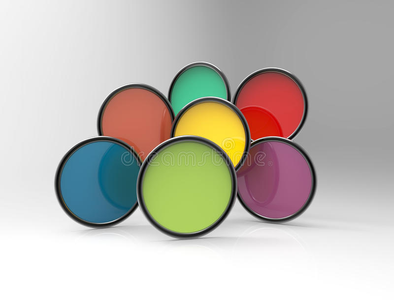 五颜六色横幅的圈子 库存例证