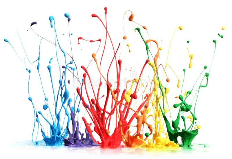 五颜六色油漆飞溅 库存照片
