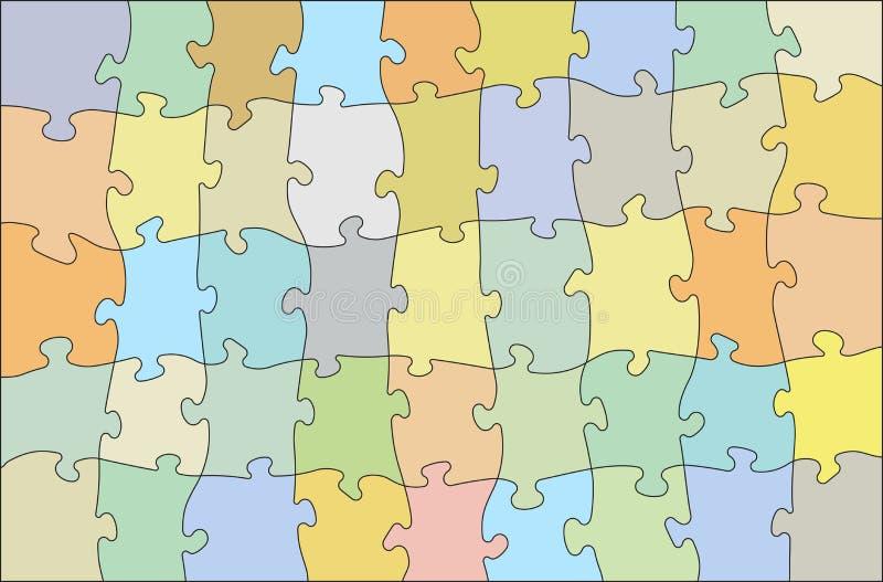 五颜六色的七巧板,您的设计的传染媒介例证 皇族释放例证