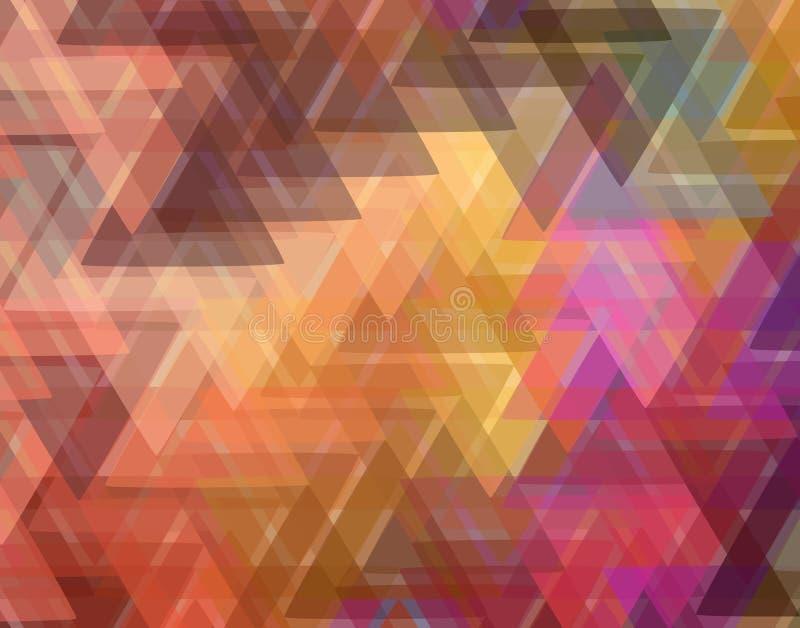 五颜六色的三角在背景中 抽象背景色的编辑可能的几何例证向量 库存例证