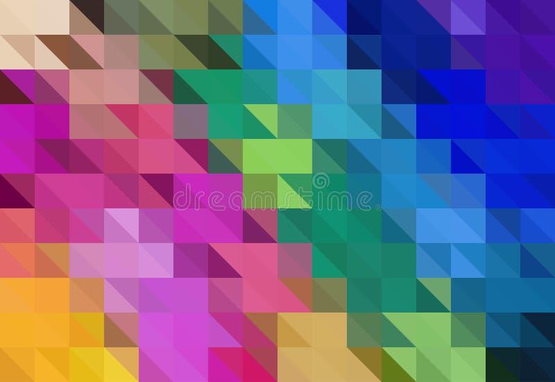 五颜六色的三角抽象背景 也corel凹道例证向量 向量例证