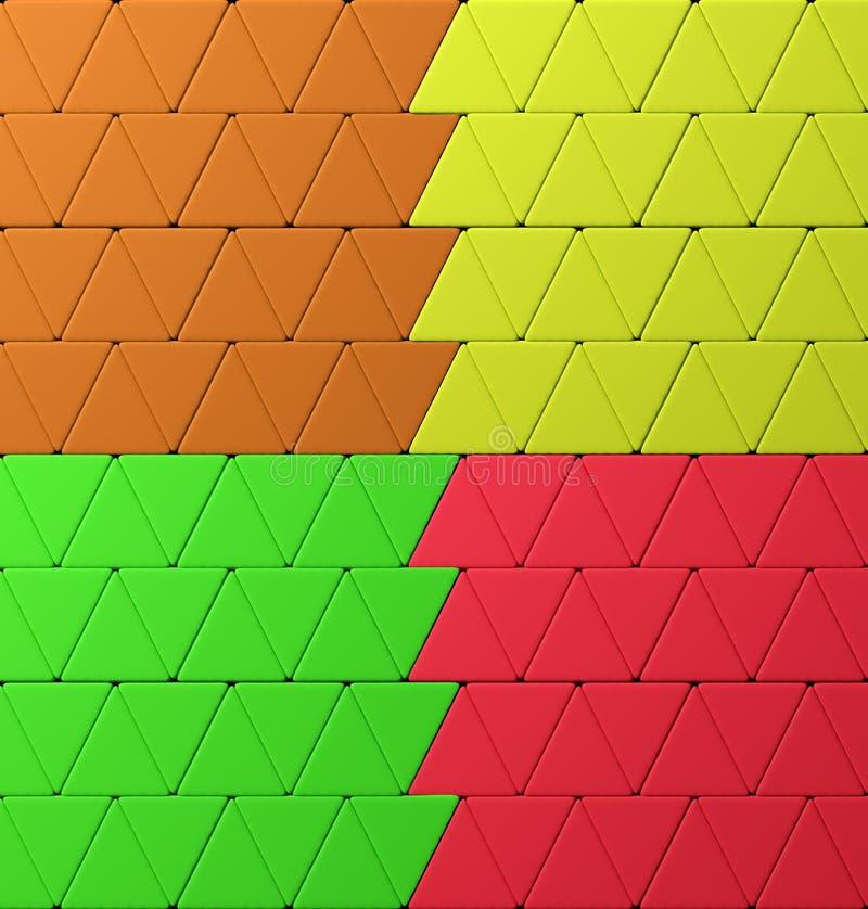 五颜六色的三角 向量例证