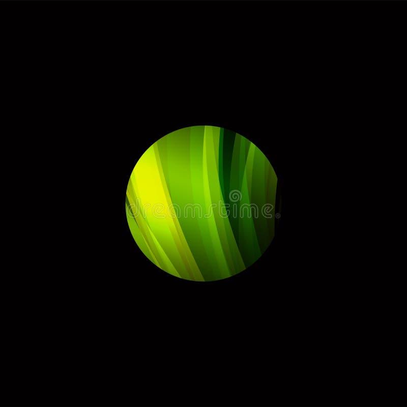 五颜六色的与被设置的线的圈子摘要五颜六色的结构商标 未来形状发展设计 库存例证