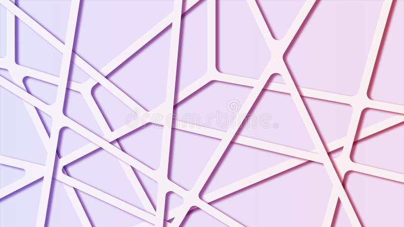 五颜六色的与连接线的梯度摘要分子多角形背景 向量例证