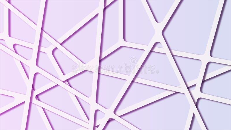 五颜六色的与连接线的梯度摘要分子多角形背景 皇族释放例证