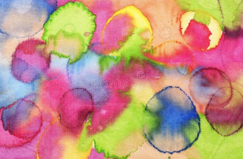 五颜六色的丝绸纹理 免版税库存图片