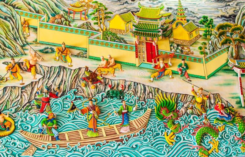 五颜六色的中国女神 免版税图库摄影