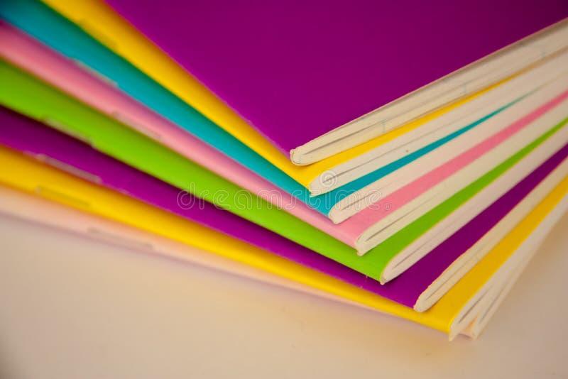 五颜六色的书 库存照片