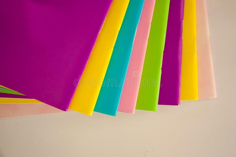 五颜六色的书 库存图片