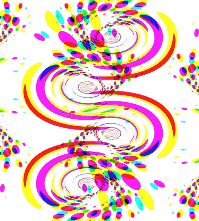 五颜六色的五彩纸屑烟花 向量例证