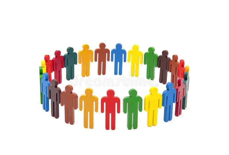 五颜六色的人圈子白色背景的 免版税图库摄影